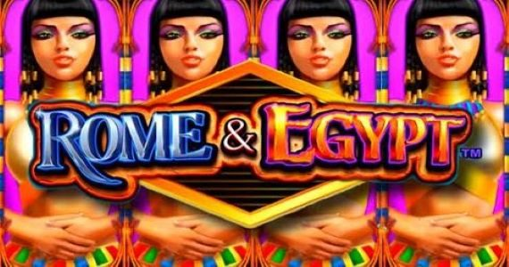 rome and egypt slot review wms logo