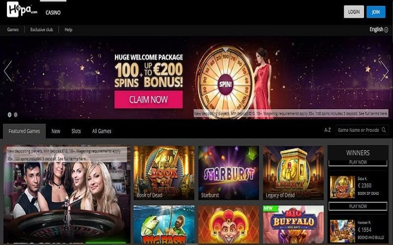 Hopa Casino online casino games and slots review CA